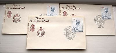 Pope John Paul ii visit to Argentina 1988 3 Covers.