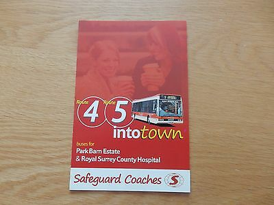 Safeguard Coaches of Guildford Route 4 & 5 Bus Timetable May 2010 Surrey