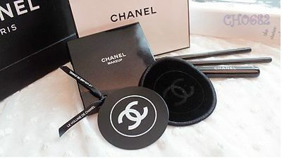 CHANEL ROUND POCKET MIRROR WITH VELVET POUCH ~BRAND NEW~Limited Edition