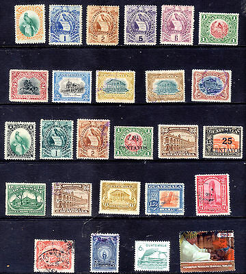 Guatemala. Selection of 26 including colour variations and overprints.