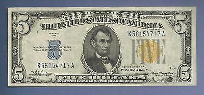 CC&C $5 1934A - AWESOME NORTH AFRICA Silver Certificate Note - SHIPS FREE!