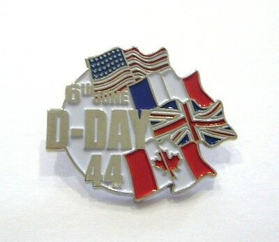 D DAY FLAGS     (Badge émail/pin's)