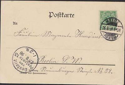 Schleswig Holstein Postcard Heide Destinationberlin Year 1898