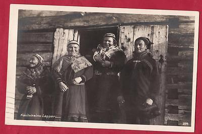 OLD POSTCARD Representing the lappons of the city of KAUTOKEINO