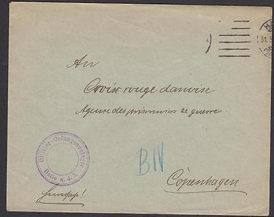 Germany  Letter Of The Danish Red Cross  For The Prisoner Of War  Year 1915