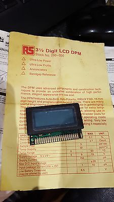 LCD DPM Module RS Number 260-050