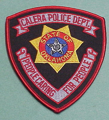 Calera  Oklahoma  Ok   People Caring For People  Police Patch   Free Shipping!!!