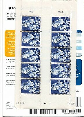 SARRE Feuille 10 Timbres N° 332**