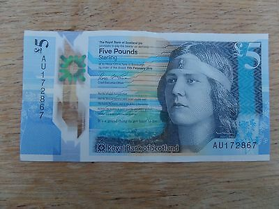 New £5 Note made from polymer Scottish Note with Nan Shepherd & Mackerel