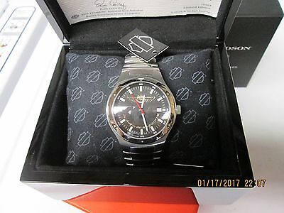 Harley Davidson 100th Anniversary Limited Edition Mens Wristwatch #1555