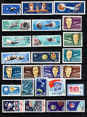 Space  Collection of used stamps