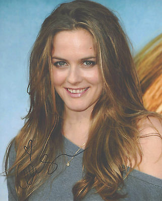 """Hand-Signed Photograph of Alicia Silverstone 10""""x8"""" with COA"""