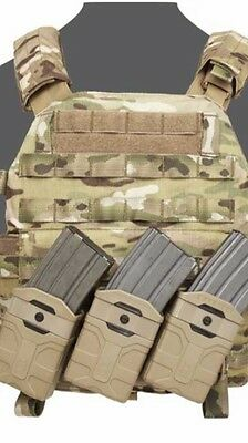 Polymer M4 Style 5.56mm Magazine pouch Warrior Elite Ops color: Tan