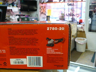 "Milwaukee 2780-20 M18 FUEL 4-1/2""/5"" Grinder, Paddle Switch No-Lock (Tool Only)"