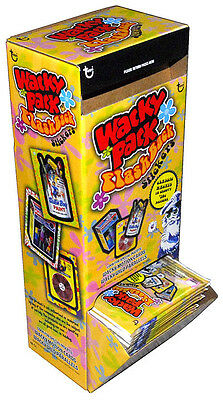 VERY RARE Topps Wacky Packages 2008 FLASHBACK 1 GRAVITY FEED 48 Packs in BOX
