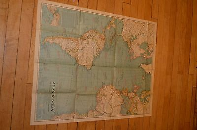 1939 Atlantic Ocean Map by National Geographic