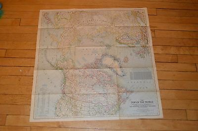 1949 The Top Of The World Map by National Geographic