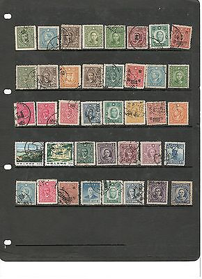 hl36 China stocksheet 39 stamps mixed condition