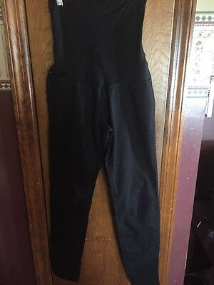 Maternity Pants A Pea In The Pod Black Stretch Skinny Full Belly Panel Size M