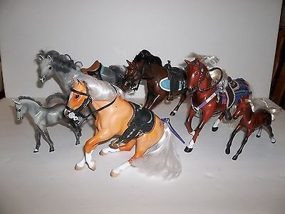 Awesome Group Horses (6) Plus Saddles, Blankets, Bridles Unmarked