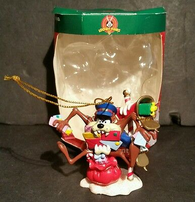 Looney Tunes Taz Mailman Delivery Man Christmas Ornament 2001 Tasmanian Devil