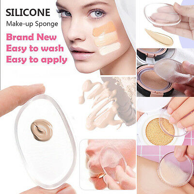Silicone Gel Make Up Sponge Cosmetic Powder Foundation Applicator Tools Blender
