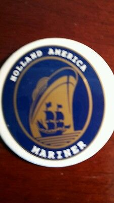 HOLLAND AMERICA MARINER pin, 2.25 inches round, set of 2 pins