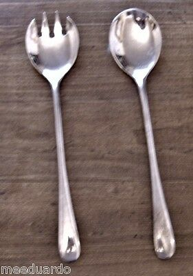 Silver Italian Serving Fork And Spoon