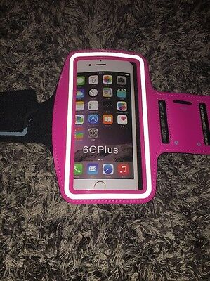 Phone Holder (arm) For 6GPlus. Brand New. Pink. For Runners / Gym