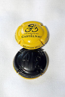 Lot de 2 capsules de champagne Castelnau  Tour de france 2016 ( neuves ).