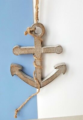 Rustic Shabby Chic Wooden Nautical Anchor Beach Hut Gift Sass Belle