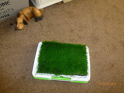Puppy Training ~ 3 Piece Tray With Artifcial Grass And Training Pads