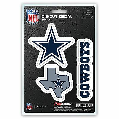 NFL Dallas Cowboys Team Decal - Pack of 3