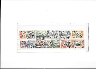 Nigeria 1953 pictorial definitives set fine used to 10/- (13 values)