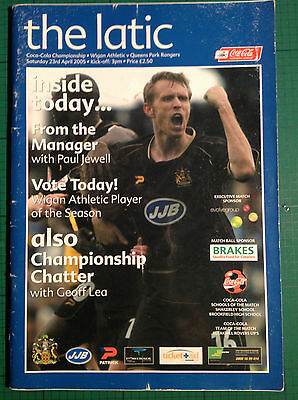 Wigan Atheletic v QPR - Matchday Program - 23rd April 2005 - The Latic