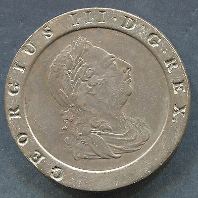 1797 2 Pence Great Britain Cart Wheel Nice Coin!! 40mm