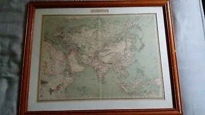 Antique Vintage Map 1900 Asia Europe Geographical Institute George Philip London