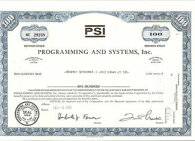 Programming and Systems, Inc. blau