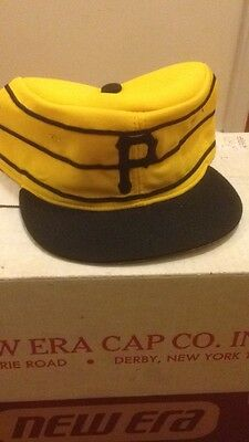 Pittsburgh Pirates Flat Top Pillbox New Era Pro Model Vintage Fitted