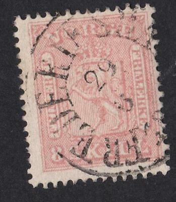 NORVÈGE N°:9 s.8.skill -  rouge obliteration - beautiful stamp  catalog :65 €
