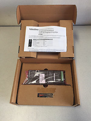 New CyberData Amplifier, VoIP Paging V2, PoE (011085B / 021047G)