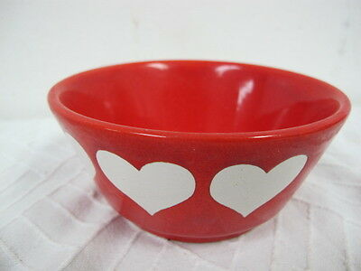 """Waechterbach Germany Heart Bowl Red White 5"""" Valentines Day"""