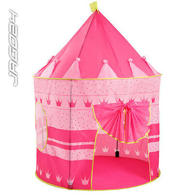 Child Play Tent Toy House Kid Castle Children Outside Fun Nursery Pink Playhouse