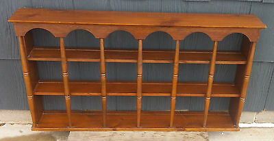 Vintage Wood Colonial Style 3 Tier Wall Plate Rack Shelf by Hortonville Rustics