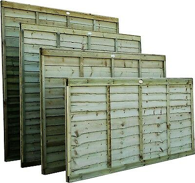 6x4 / Lap Panels / Fence Panels / Pressure Treated Over lap Panels