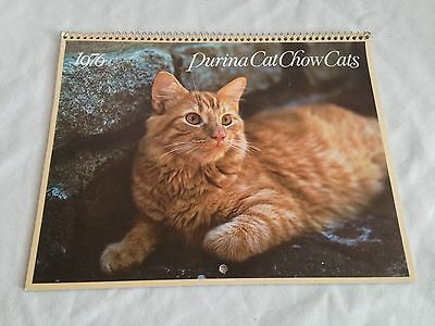 1976 Purina Cat Chow Cats Calendar Unused Excellent Condition