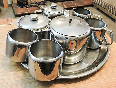 Stainless Steel Tea Serving Items x 8