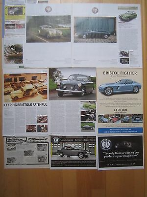Bristol Cars Reports & Adverts - 400 401 404 406 411 Fighter etc.
