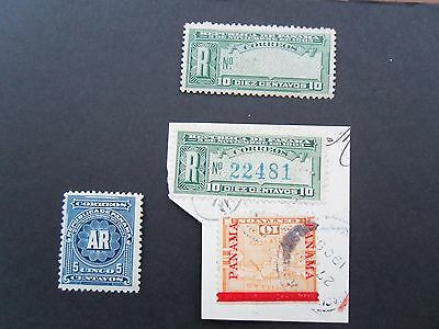 1904  Panama Acknowledgement of Receipt & Registration Stamps