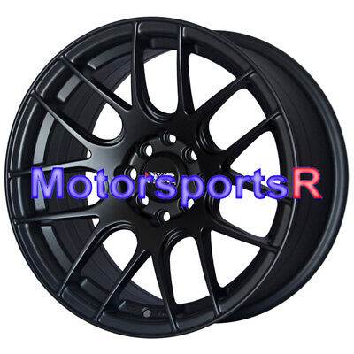 XXR 530 16x8 +20 Flat Black Wheels Rims 4x100 Stance 92 98 Honda Civic Hatch SI